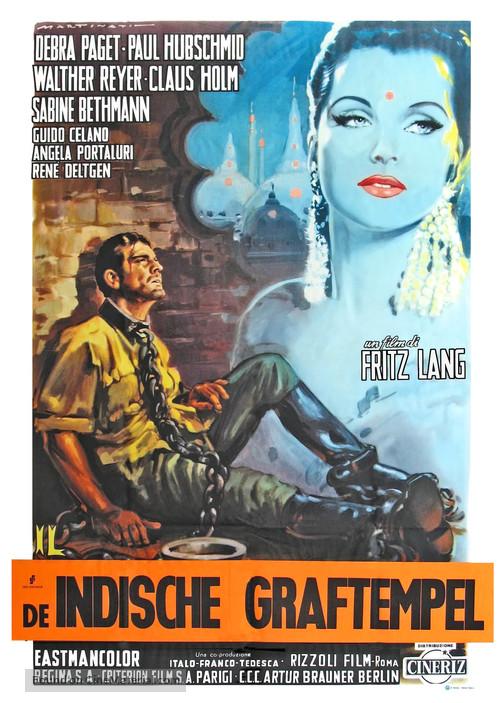 Das iIndische Grabmal - Dutch Movie Poster