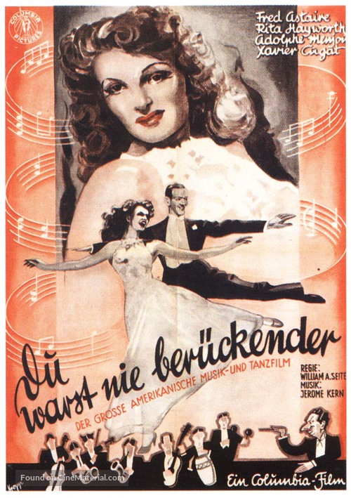 You Were Never Lovelier - German Movie Poster