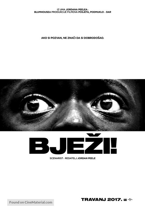 Get Out - Croatian Movie Poster