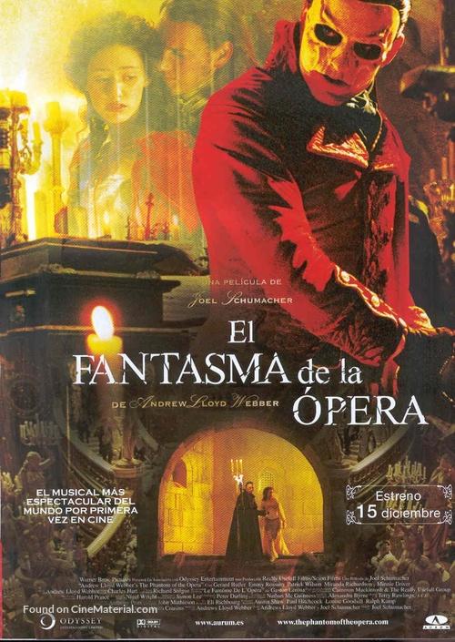 The Phantom Of The Opera - Spanish Movie Poster