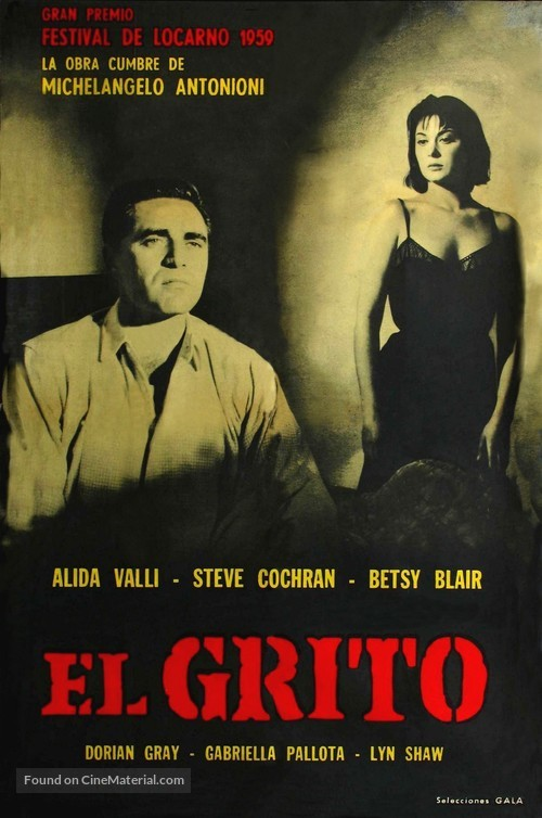 Il Grido - Argentinian Movie Poster