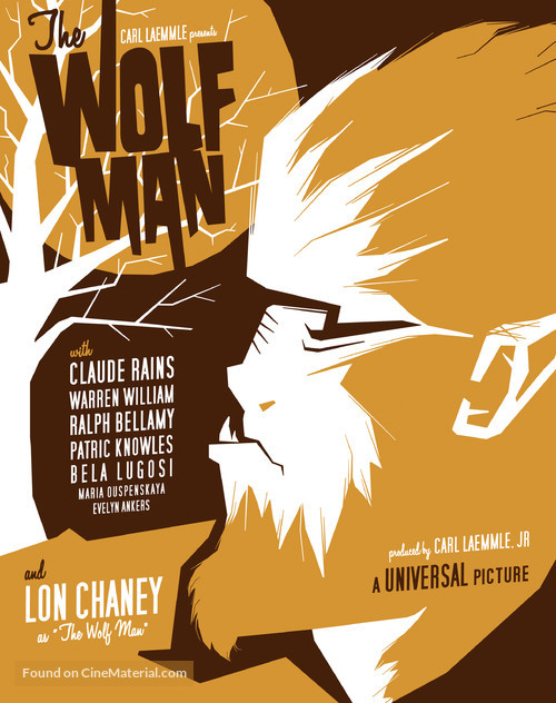 The Wolf Man - Homage movie poster