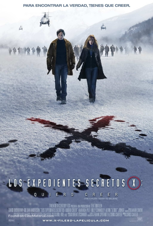 The X Files: I Want to Believe - Argentinian Movie Poster