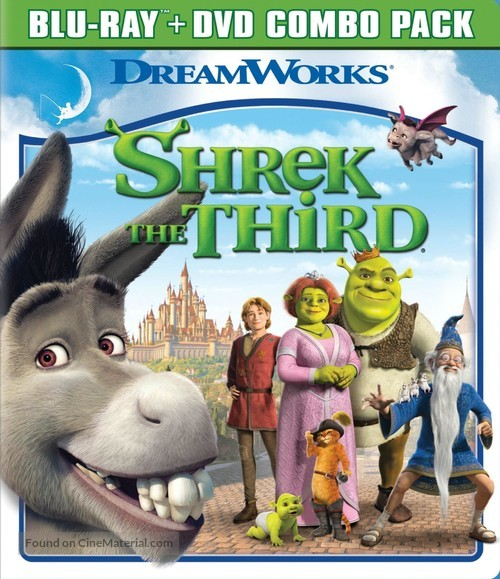 Shrek The Third 2007 Blu Ray Movie Cover