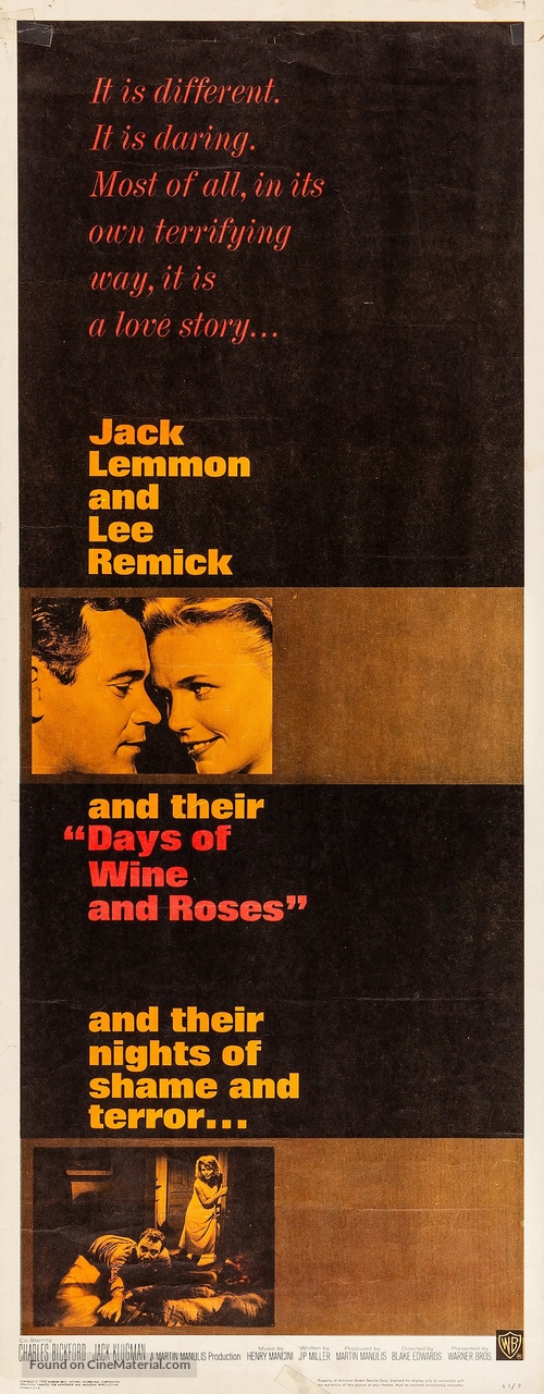 Days of Wine and Roses - Movie Poster