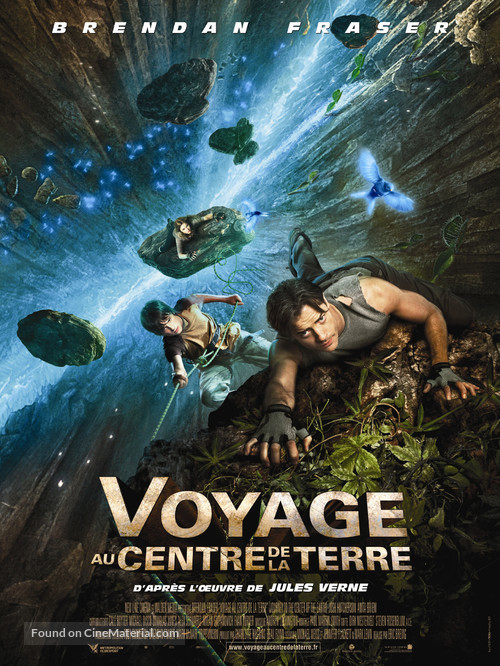 Journey to the Center of the Earth - French Movie Poster