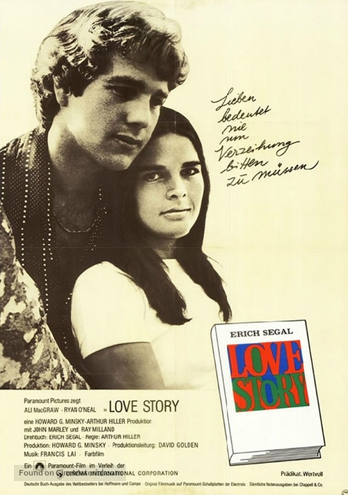 Love Story - German Movie Poster