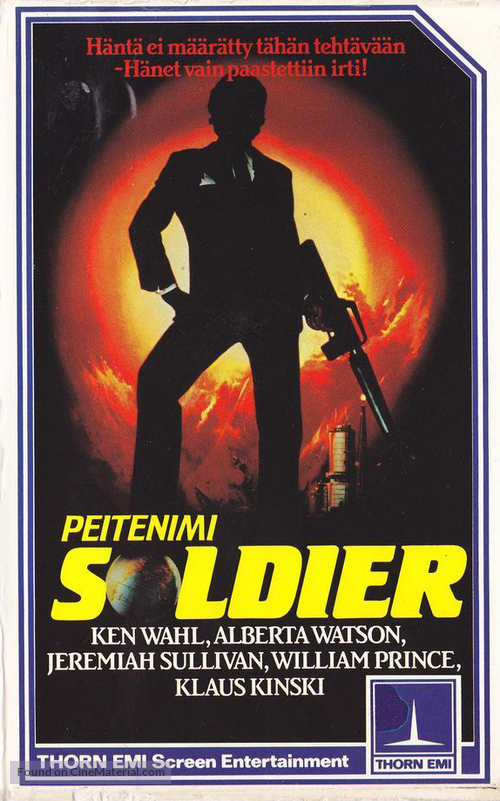The Soldier - Finnish VHS movie cover