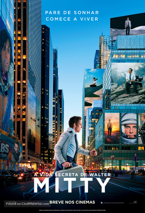 The Secret Life of Walter Mitty - Brazilian Movie Poster