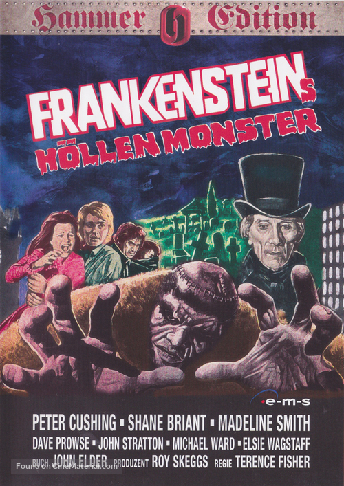 Frankenstein and the Monster from Hell - German DVD movie cover