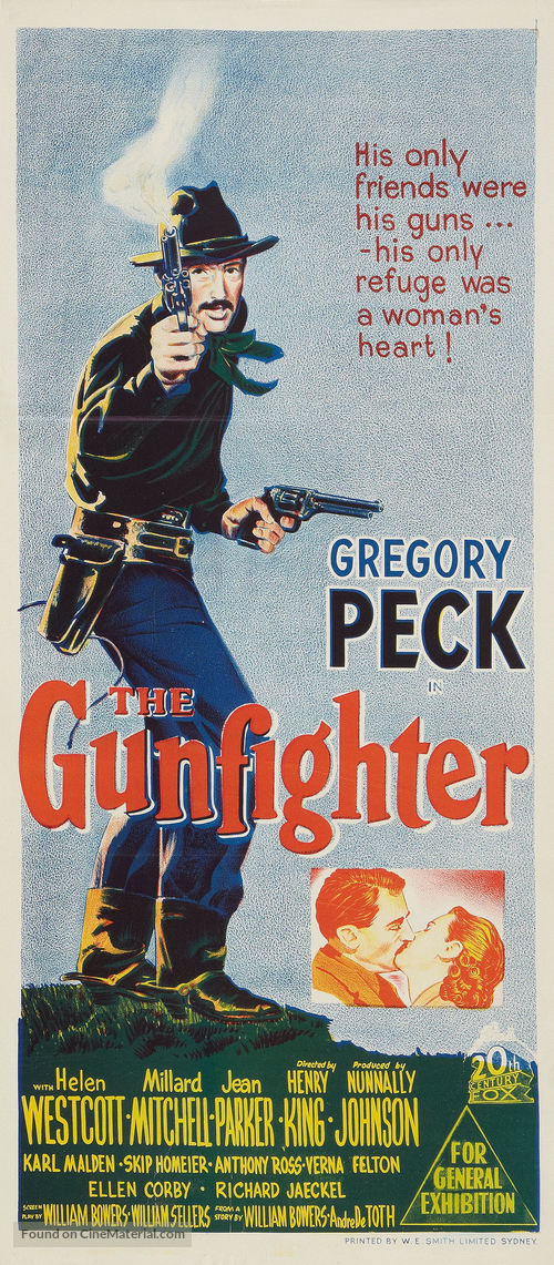 The Gunfighter - Australian Movie Poster