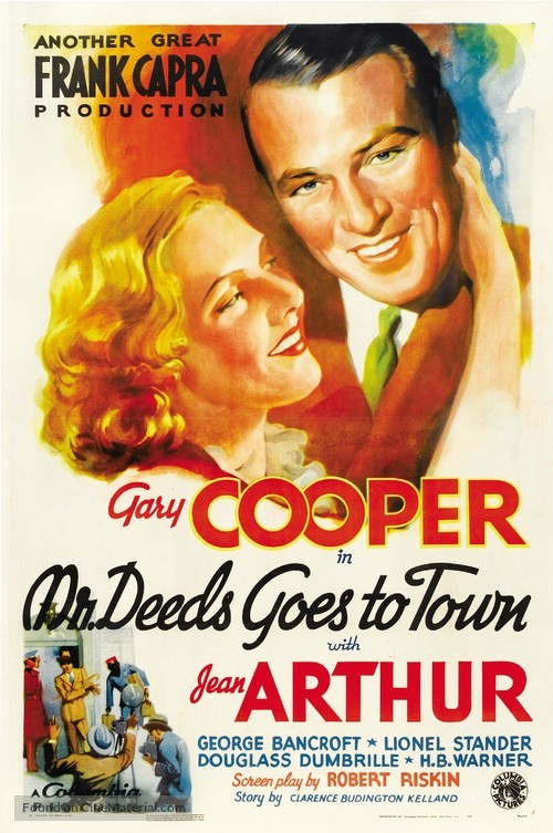 Mr. Deeds Goes to Town - Theatrical movie poster
