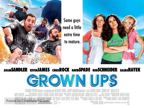Grown Ups 2010 British Movie Poster