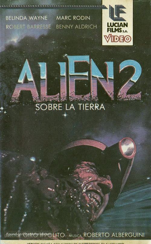 Alien 2 - Sulla terra - Argentinian VHS movie cover