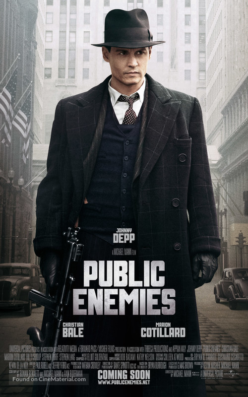 Public Enemies - Movie Poster