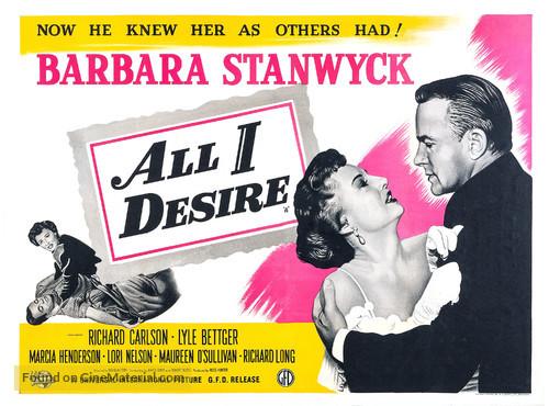 All I Desire - British Movie Poster