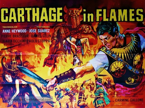 Cartagine in fiamme - British Movie Poster