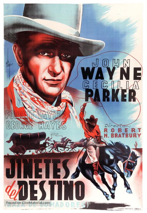 Riders of Destiny - Spanish Movie Poster