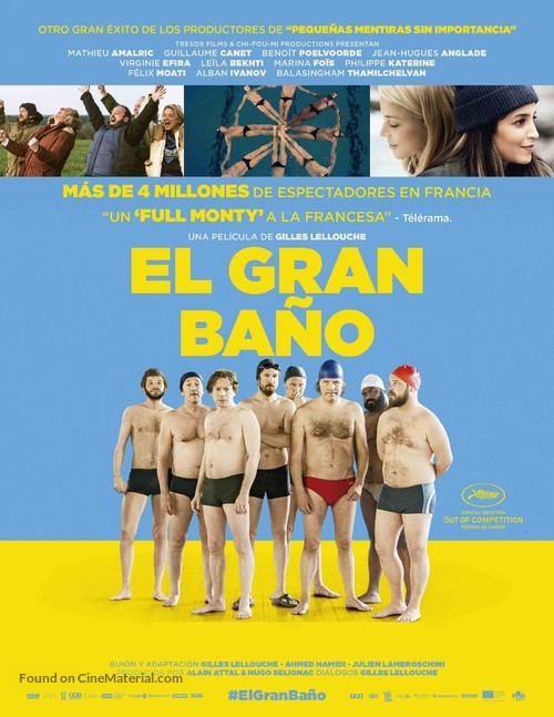 Le grand bain - Spanish Movie Poster