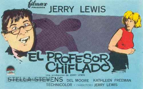 The Nutty Professor - Spanish Movie Poster