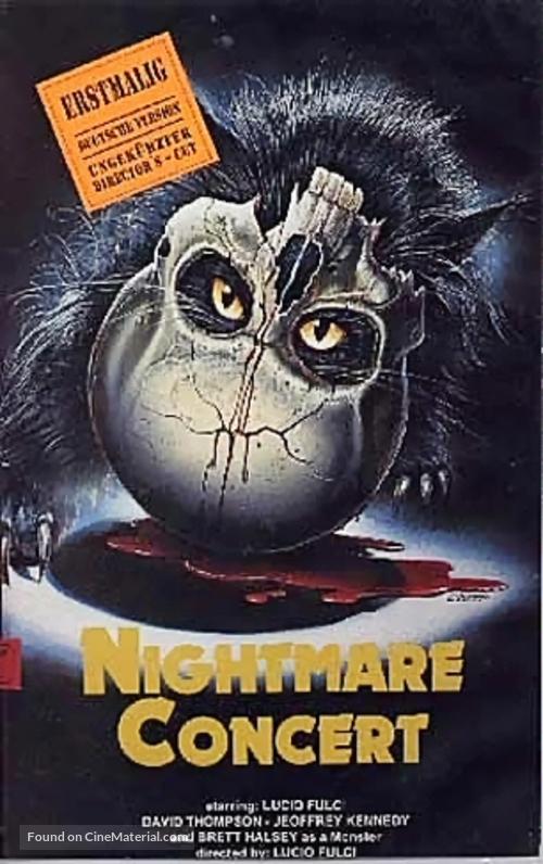 Un gatto nel cervello - VHS movie cover