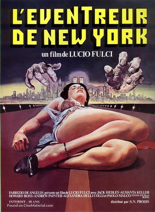 Lo squartatore di New York - French Movie Poster