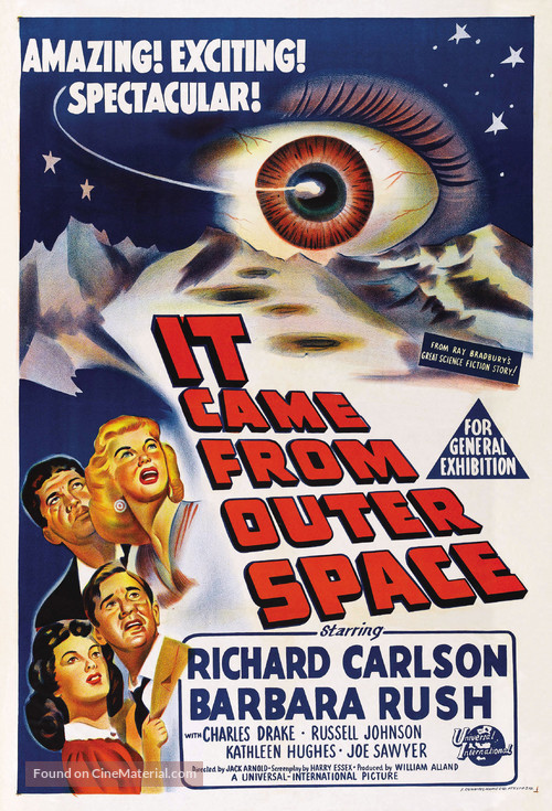 It Came from Outer Space - Australian Theatrical movie poster