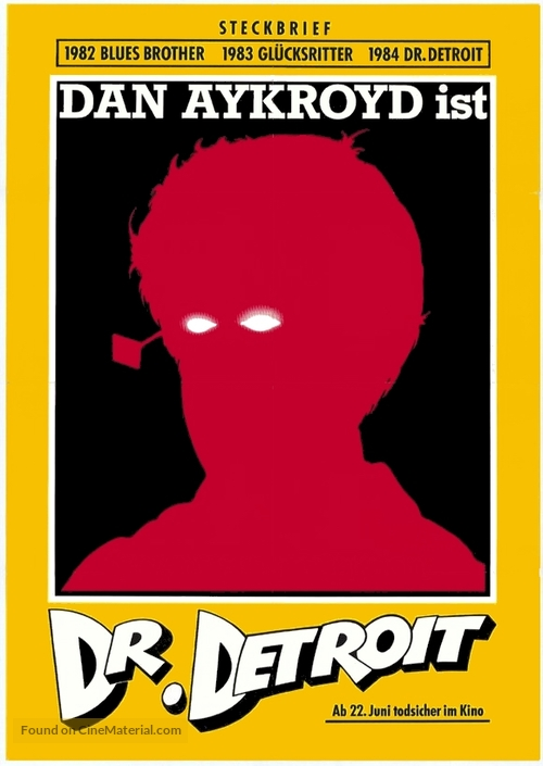 Doctor Detroit - German Theatrical movie poster