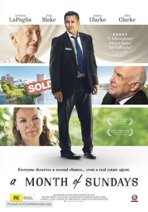 A Month of Sundays - Australian Movie Poster