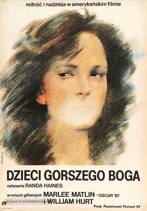Children of a Lesser God - Polish Movie Poster