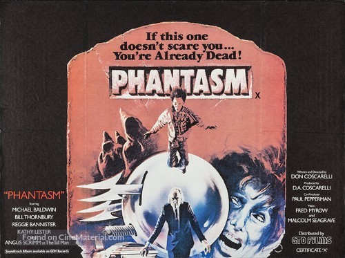 Phantasm - British Movie Poster
