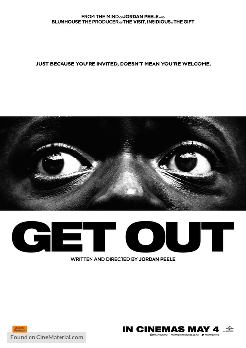 Get Out - New Zealand Movie Poster