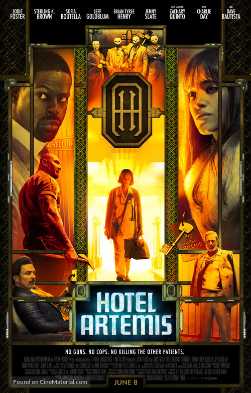 Hotel artemis movie poster for 4 design hotel artemis