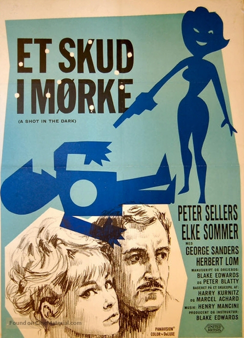 A Shot in the Dark - Danish Movie Poster