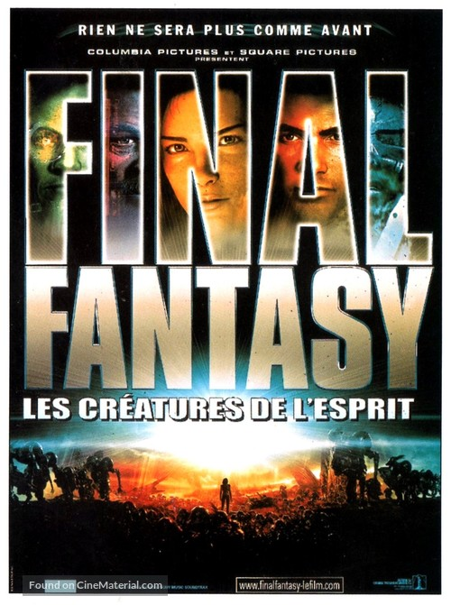 Final Fantasy The Spirits Within 2001 French Movie Poster