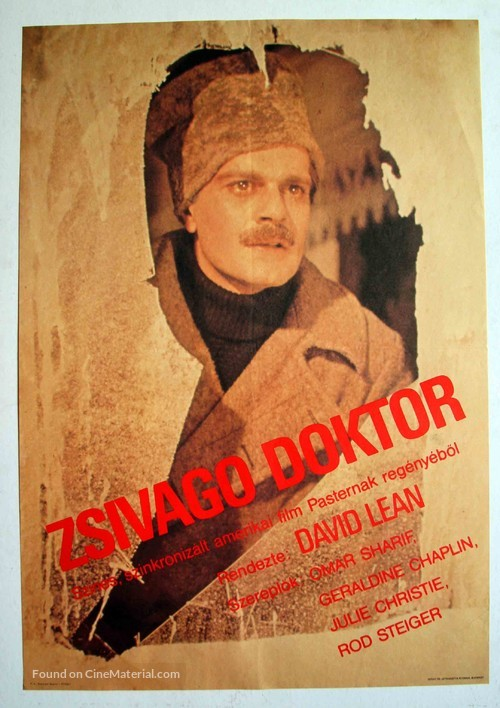 Doctor Zhivago - Hungarian Movie Poster