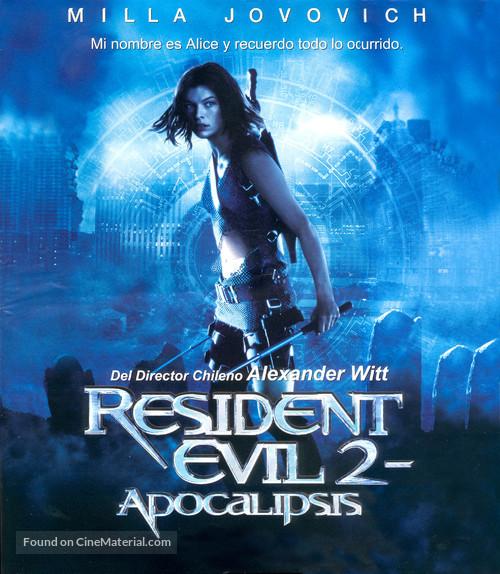 Resident Evil: Apocalypse - Spanish Blu-Ray movie cover