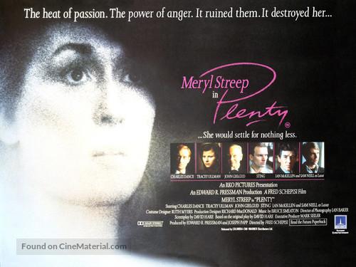 Plenty - British Movie Poster
