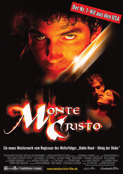 The Count of Monte Cristo - German Movie Poster