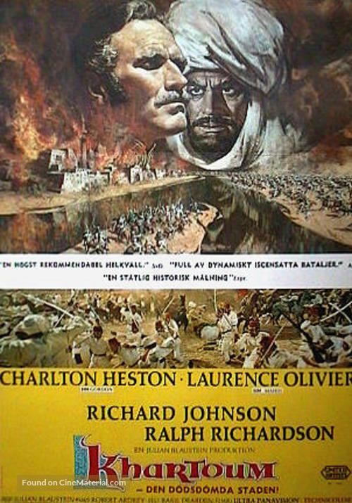 Khartoum - Swedish Movie Poster