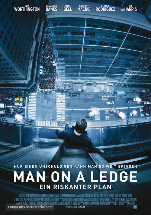 Man on a Ledge - Swiss Movie Poster