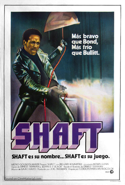 Shaft - Argentinian Movie Poster