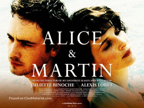 Alice et Martin - British Theatrical movie poster