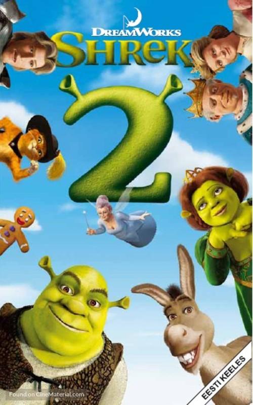 Shrek 2 - Estonian VHS movie cover