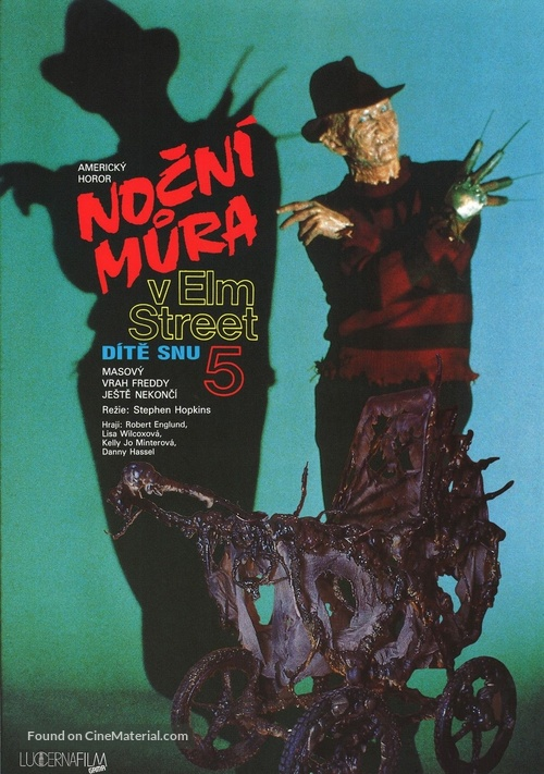 A Nightmare on Elm Street: The Dream Child - Czech Movie Poster