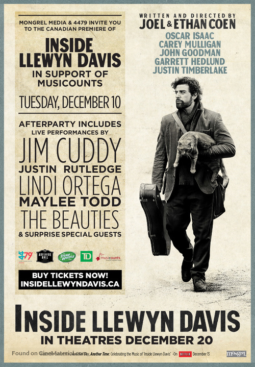 Inside Llewyn Davis - Canadian Movie Poster