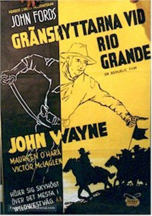 Rio Grande - Swedish Movie Poster