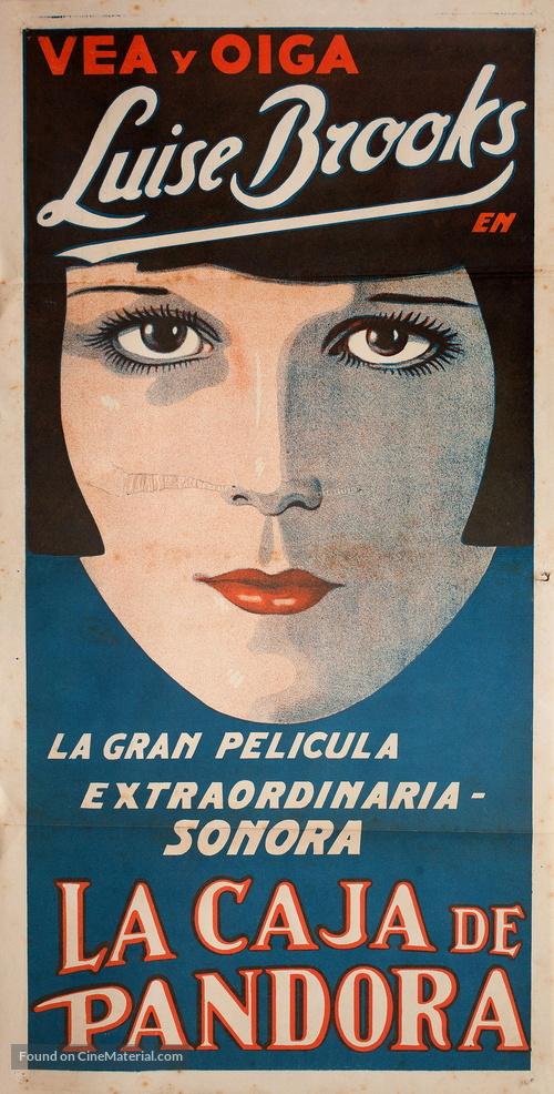 Die Büchse der Pandora - Argentinian Movie Poster