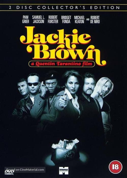 Jackie Brown - British DVD movie cover