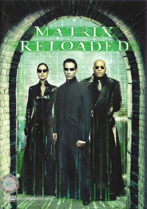 The Matrix Reloaded - Czech DVD movie cover